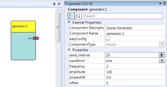 Screenshot: The Property Tab showing a Component's Properties