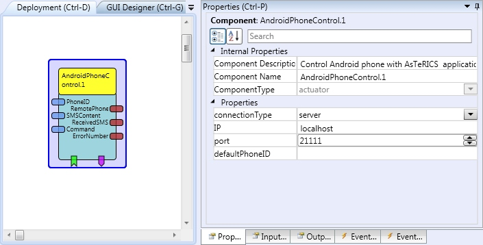 Screenshot: AndroidPhoneControl plugin