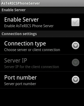 Android Server Application