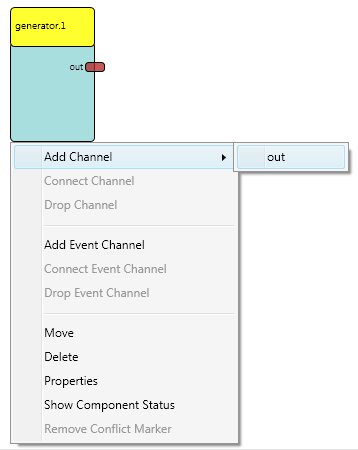 Screenshot: Component with Opened Context Menu