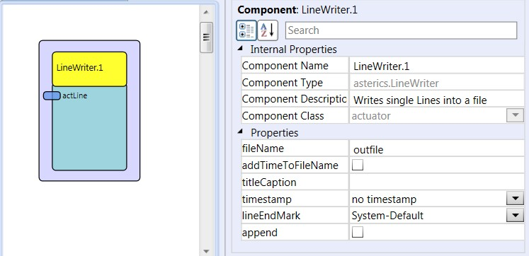 Screenshot: LineWriter plugin
