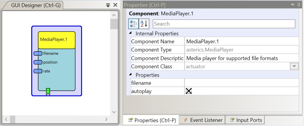 Screenshot: MediaPlayer plugin