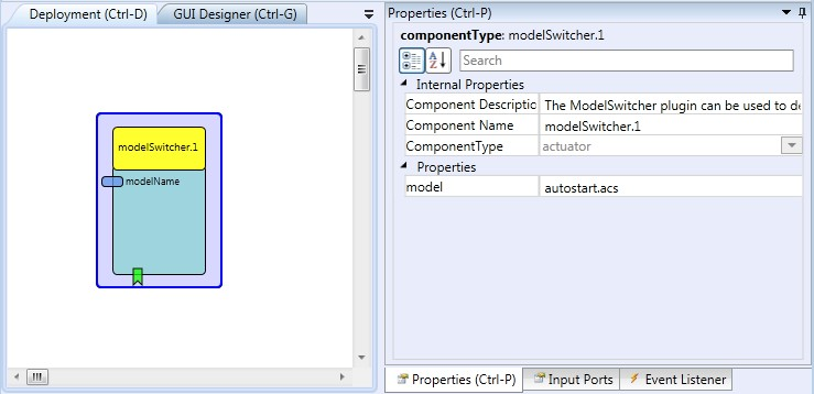 Screenshot: ModelSwitcher plugin
