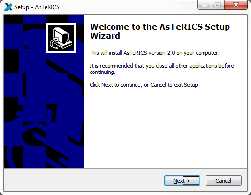 AsTeRICS Setup Wizard