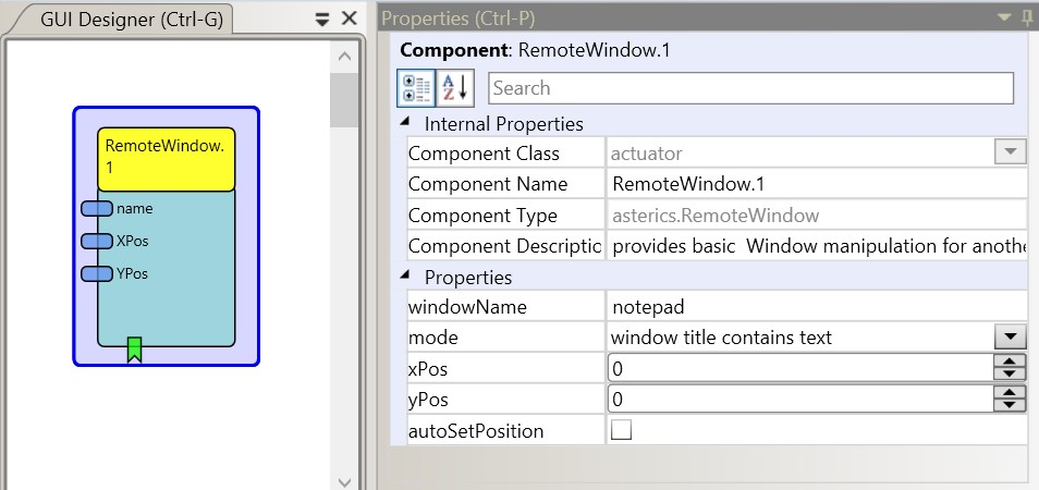 Screenshot: RemoteWindow plugin
