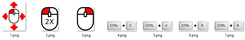 Figure 3, Screenshot: Default icon set of tooltips